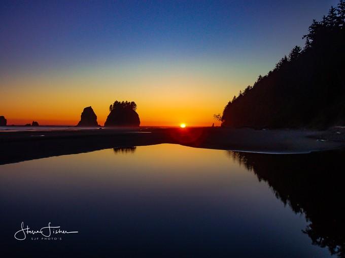 Sunset over the Wa Coast