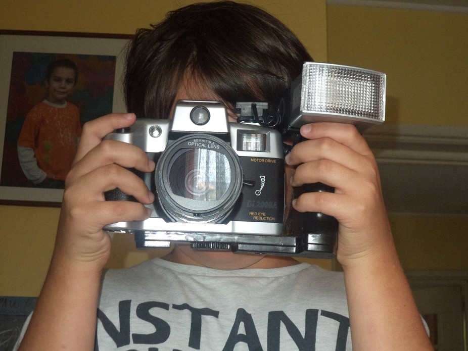 ...with Grandma`s old camera!