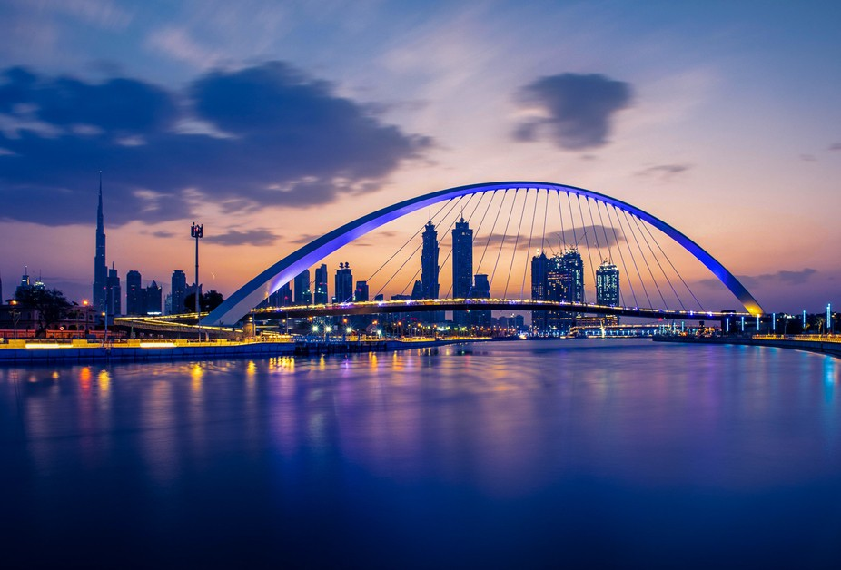 One of the most iconic bridges I have seen in my life, over the newly created Dubai Canal