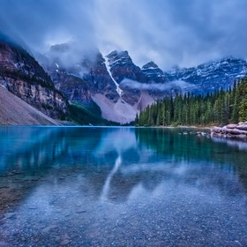 This is Lake Moraine in Banff Ntl Park. I think this is one of the most beautiful places I've ever been. Most people say Lake Louise is more...