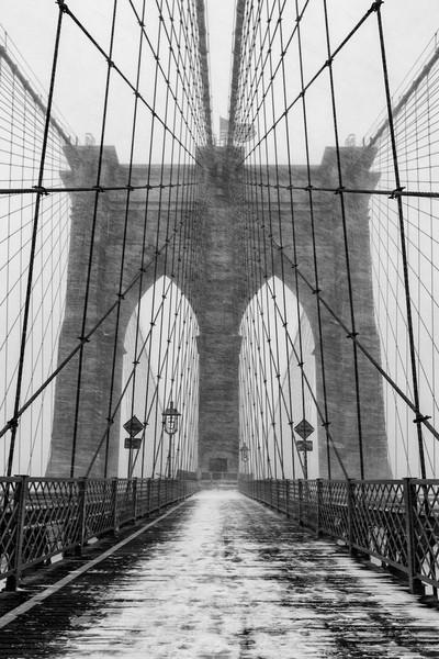 Blizzard in Brooklyn Bridge