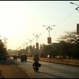 Aurangabad, a fast-developing city of Maharashtra, India looks something like this during the early evening hours when Uncle Sun starts to set to...