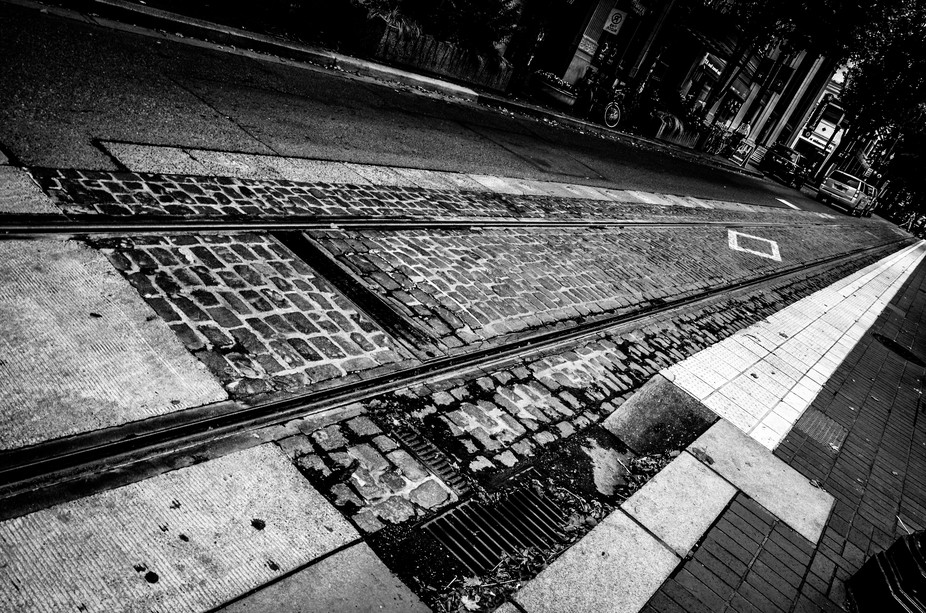 Walking though Portland, OR a couple of years ago and the trolly tracks through the streets just ...