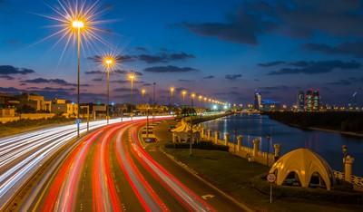 Abu Dhabi,A night view.
