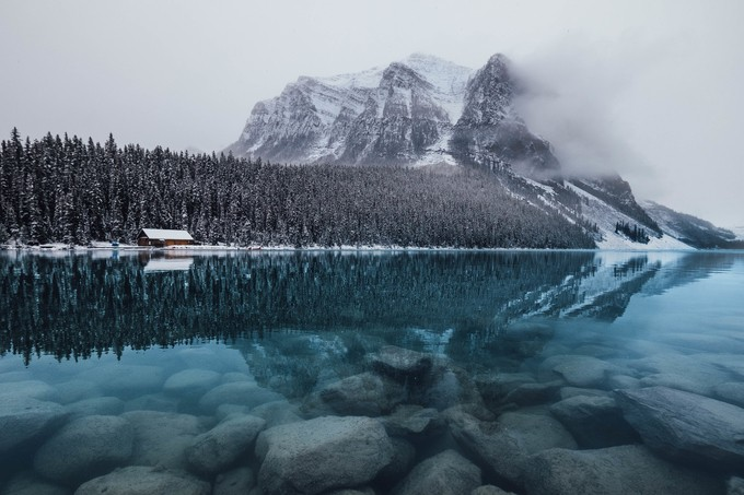 Lake Louise Calm by ryandaw - Rule Of Seconds Photo Contest vol1