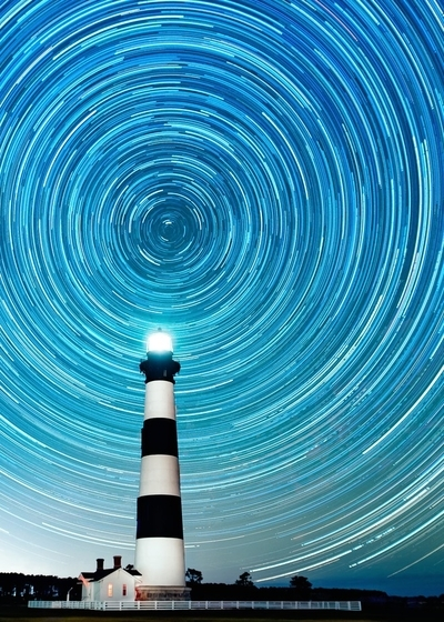 Bodie Island Lighthouse Star Trails