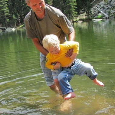 Getting Feet Wet at Dream Lake, Rocky Mountains 2