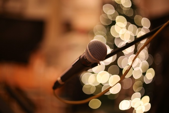 Mic & Lights by SteveWazowski - Night And Bokeh Photo Contest