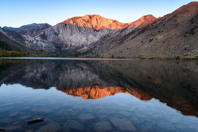 First Light on Convict Lake