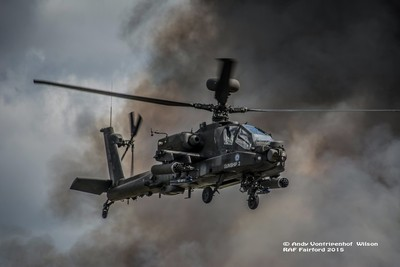 WAH-64D Longbow in smoke