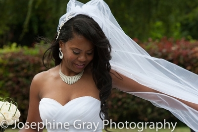 Wedding on a breezy day