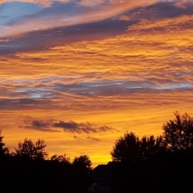 This is a stunning sunset I took in 2015 in Brantford, Ontario.