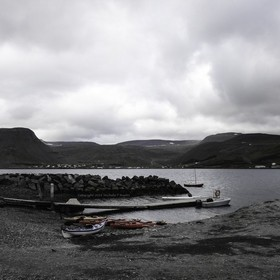 Kayaking in Isafjordur Iceland