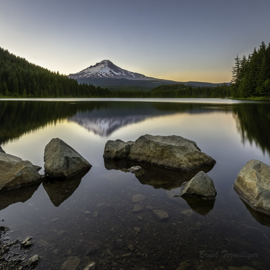 Mt Hood Trillium Lake by BrookTerwilliger - Compositions 101 Photo Contest vol4