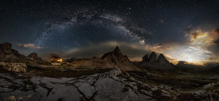 My panoramic at the Tre cime, edit 2016.