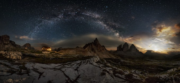 Tre cime nightscape by wildlifemoments - The Moonlight Photo Contest