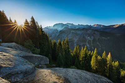 Sunrise over Great Continental Divide_wm