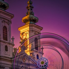 Long Exposure with 10 Stop ND Filter during sunset @Christkindlmarkt in Graz, Styria
