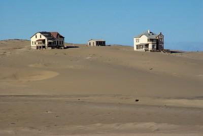 Ghost settlement in African desert