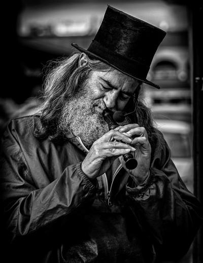 A Local street musician