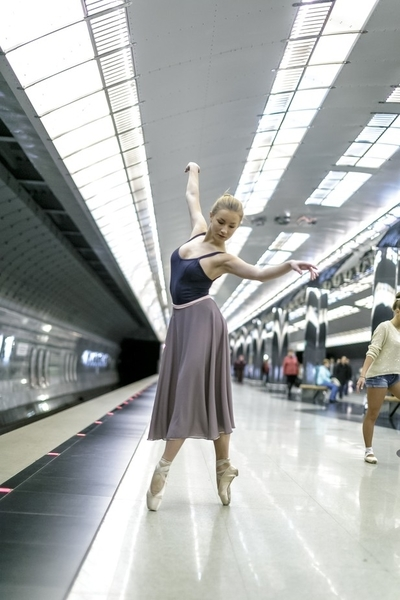 Dancers in subway