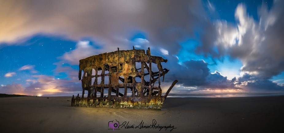 Peter Iredale Night Long Exposure