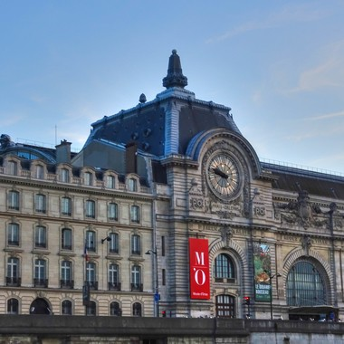 Housed in the former Gare d'Orsay, the Musee d'Orsay, is situated on the left bank of the Seine in Paris. France.