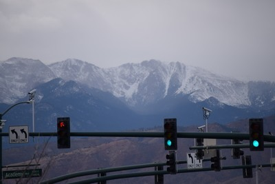 Precipitation coming over Pikes Peak