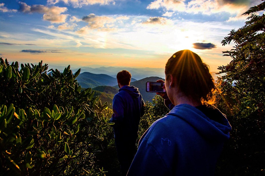 One a day hike in the Blue Ridge mountains of North Carolina