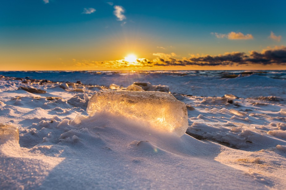 Lake Michigan is beginning to freeze.  Beauty abounds in the winter on the lakeshore.