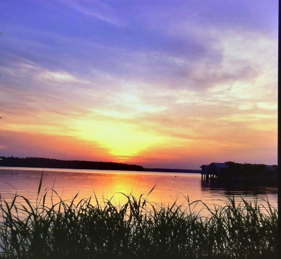 A beautiful sunrise on Lake D'Arbonne gives way to a spectrum of colors.