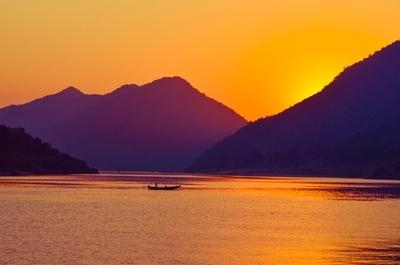 Fishermen at work during Sunset !!