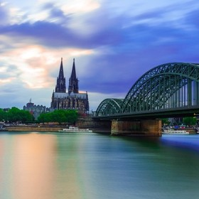 Cologne Cathedral after sunset  More pictures: FB: https://www.facebook.com/stefanschnauderphotography Instagram: https://500px.com/stefanschnaud...