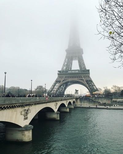 The Eiffel Tower (French: La tour Eiffel). Paris. France.