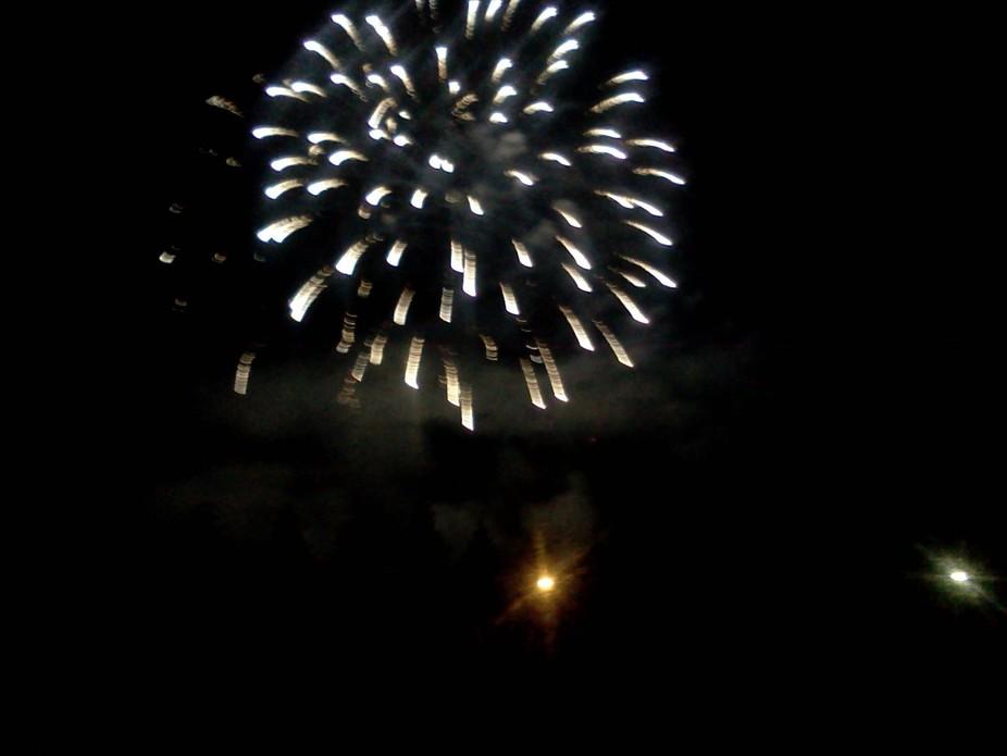 Canada Day celebration fireworks.  July 1.