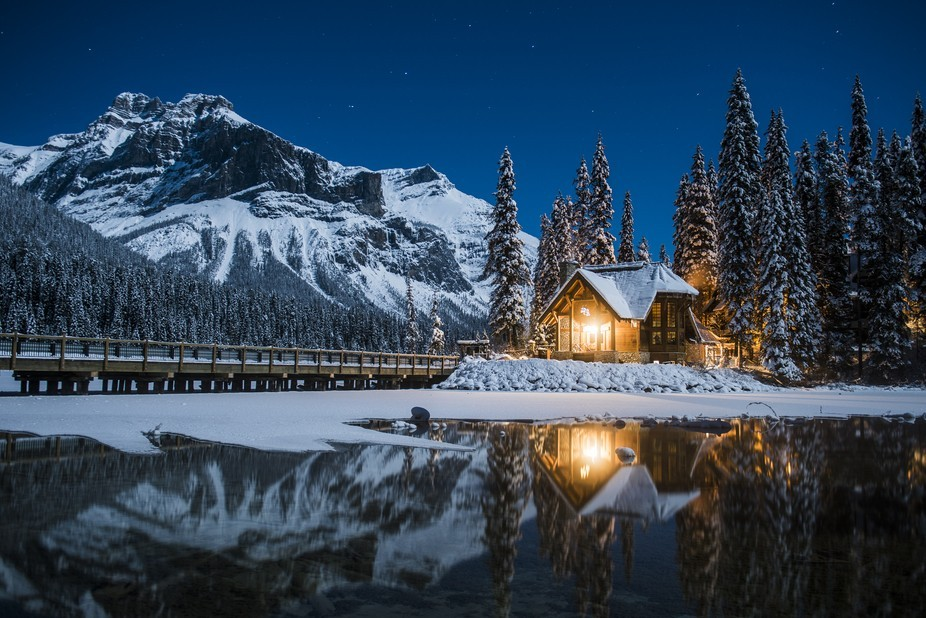 A crisp and beautiful night spent at Emerald Lake, Canada.