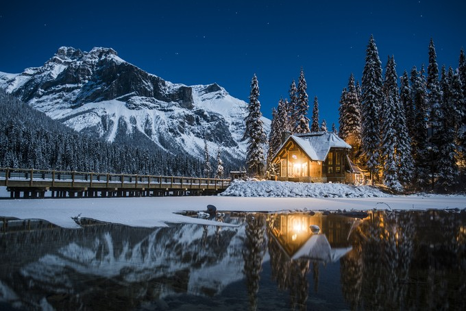 Winter Silence by erikmcritchie - Isolated Cabins Photo Contest