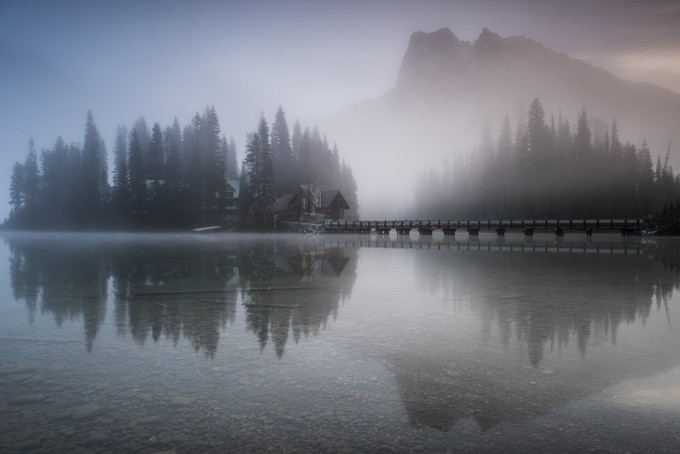 Emerald Lake Fog by erikmcritchie - Mist And Drizzle Photo Contest