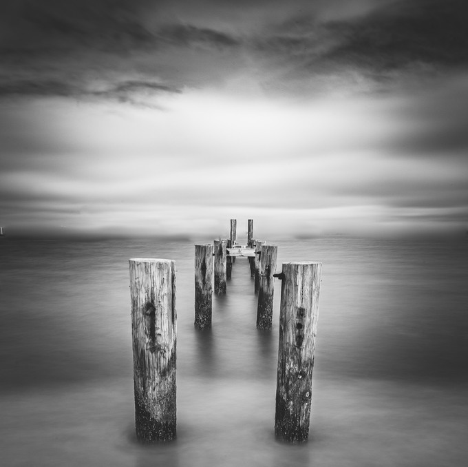 abandoned dock by davidgrachek - Monochrome Creative Compositions Photo Contest