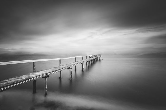 dock by davidgrachek - The Water In Black And White Photo Contest