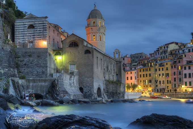 Blue hour in Vernazza by vivcourtphoto - The Blue Hour Photo Contest