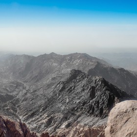 Panoramas pictures from the top Jebel Umm Shomer is an amazing peak. One with a high, pointed top that looks almost alpine – especially in the ...