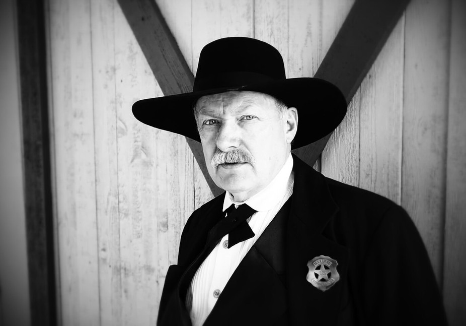 Photograph of my friend Phil Peterson. Phil is dressed up for an old west re-enactment.