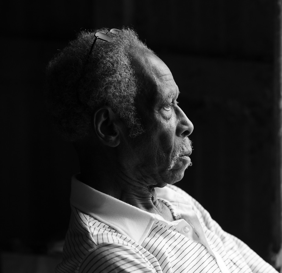 A Black & White image that I captured of my friend's grandfather one 4th of July...