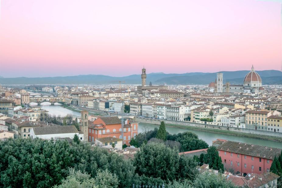 Sunset shot at Florence