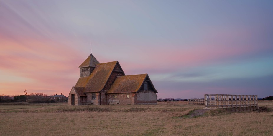 Sunrise at an isolated church