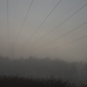 Just liked the way the power lines comes out of the fog..