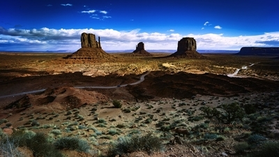 Jaw–Dropping Sunrise - The Mitten's and Merrick Butte - (from Navajo Tribal Park Visitor Center) Monument Valley, AZ 11-27-2016.