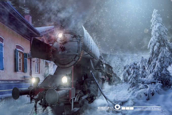 Christmas train by ales_neumeister - Post Editing Magic Photo Contest
