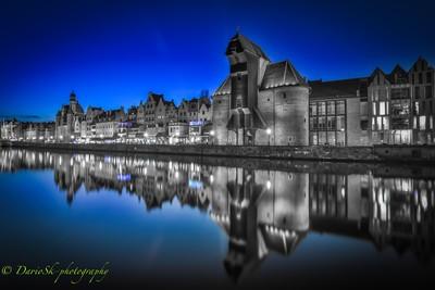 City reflection at night